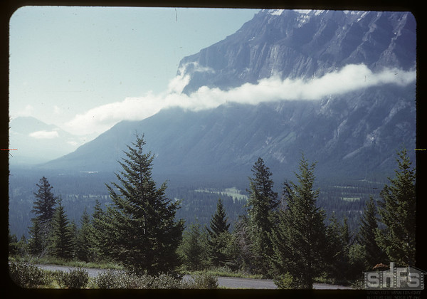 Mount Rundle from camp.  Banff.  07/29/1951