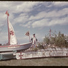Knights of Columbus jubilee float.  Val Marie.  06/06/1955