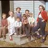 Mrs. Art Anderson and Angla School students..  Shaunavon.  09/22/1952