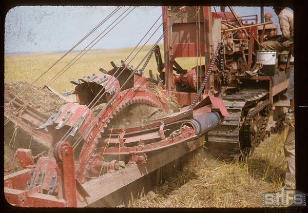 Pipeline digger - Dollard to Cantuar. Dollard. 08/07/1956