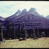 The Three Sisters mountain Range - Cunningham Photographers; Storlee Color Lab - Banff No. 425..  Banff.