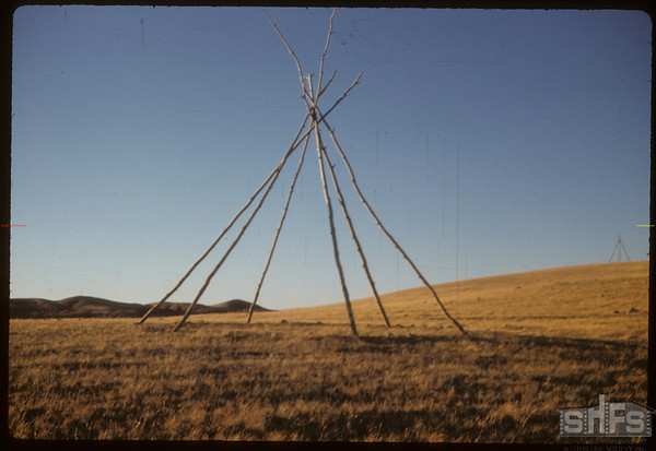 Sitting Bull Camp? Looking W.E..  South Fork.  10/28/1958