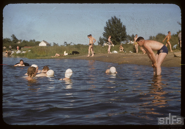 Bill Hamilton teachers co-op school swimming.  Swift Current.  07/09/1956