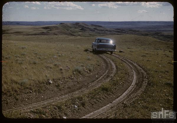 McNabb ranch trail.  Val Marie.  06/29/1957