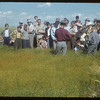 Checking out the flax plots at the experimental farm.  Swift Current.  08/19/1954