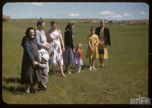 Mennanite ladies at Experimental Farm.  Swift Current.  07/13/1955