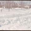 Snow covered 2nd Street.  Shaunavon.  03/21/1951