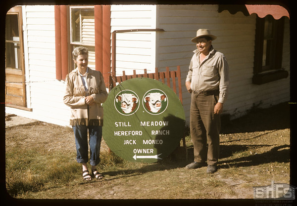 Vic (nee DeCock) and Jack Meneo.  Wood Mountain.  09/25/1957