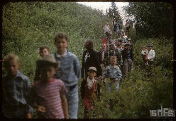 Test Plot Picnic.  South Fork.  07/27/1956