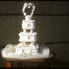 Maureen Fulton's wedding cake.  Shaunavon.  11/01/1956