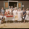 Co-op school - co-op Guild baking demonstration.  Swift Current.  07/12/1956