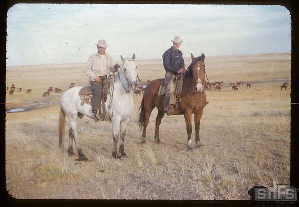George & Peter Butula on horse back. Divide. 09/30/1953