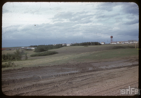 "Construction ""town-site"" for Gardiner Dam - SW of Strongfield - site later known as Cutbank..  Strongfield.  06/09/1959"