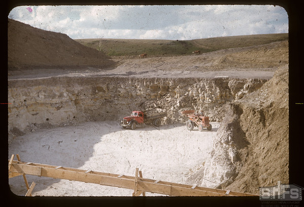 White mud mine NW of Eastend. Eastend. 06/09/1956