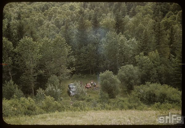 Camping spot - Pine Cree Park.  South Fork.  07/01/1956