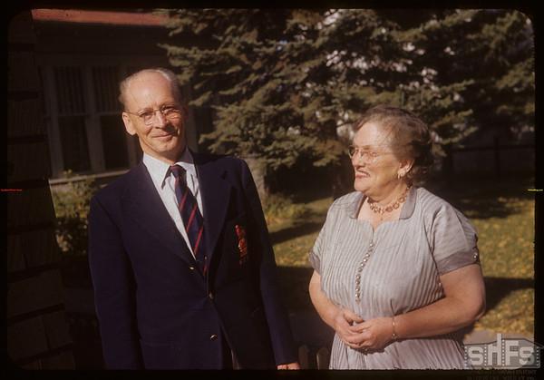Professor George and Muriel Simpson - Department of History U of S.  Saskatoon.  10/08/1953