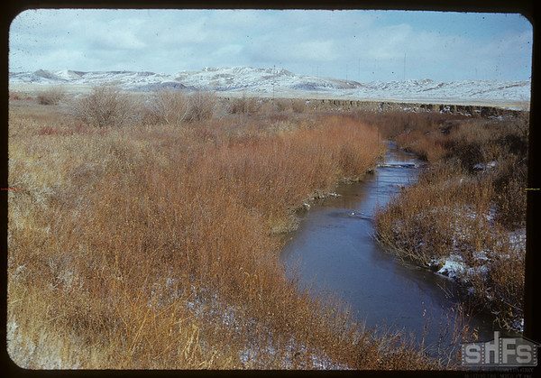 White Mud river and 70 Mile Butte on J.E. McNabb ranch.  Val Marie.  10/31/1951