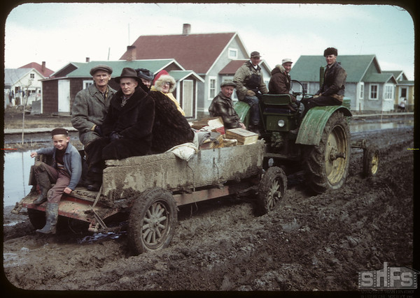 Going home from Shirley - Roberts wedding.  Shaunavon.  04/13/1950