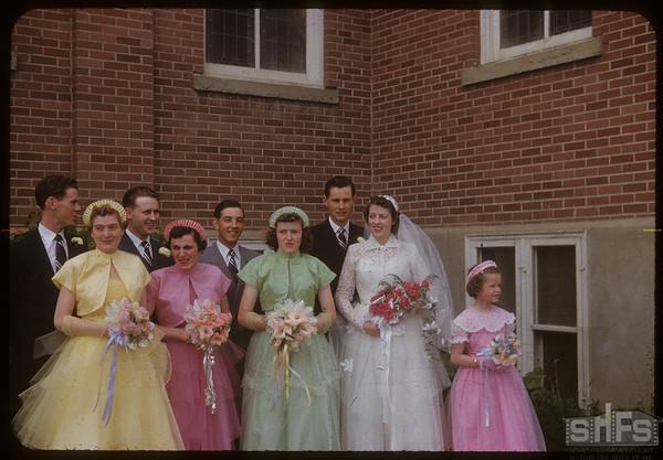 Nalda - Burns wedding party.  Shaunavon.  06/30/1954
