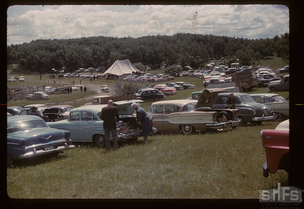 Murraydale rodeo old-timers tent. Maple Creek. 07/08/1959