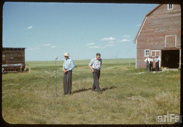 Irving Studer and Anton Dynneson..  Shaunavon.  08/02/1950