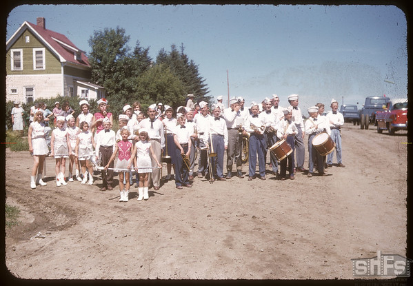 Jubilee Fair Parade - Informal Band.  Shaunavon.  07/26/1955