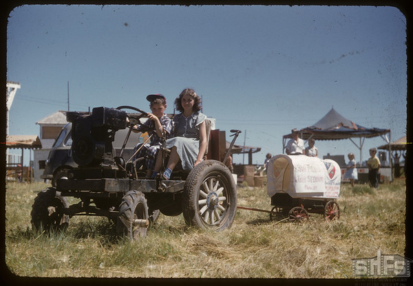 Jubilee Fair Parade - Clarence Fritz.  Shaunavon.  07/26/1955