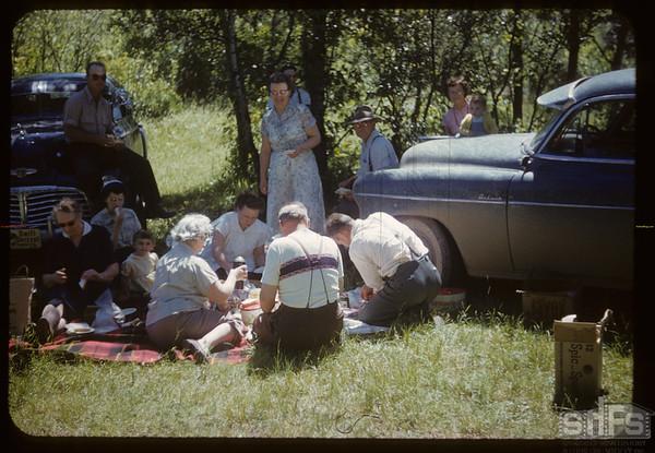 Matador group visiting.  South Fork.  07/11/1954