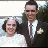 Hall - Jameison wedding; bride & groom.  Shaunavon.  06/01/1957