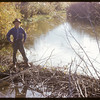 Frank Dordeau at Beaver Dam.  South Fork.  09/28/1952