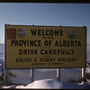 Marker at Alberta - Sask. border on highway # 1..  Maple Creek.  01/11/1958