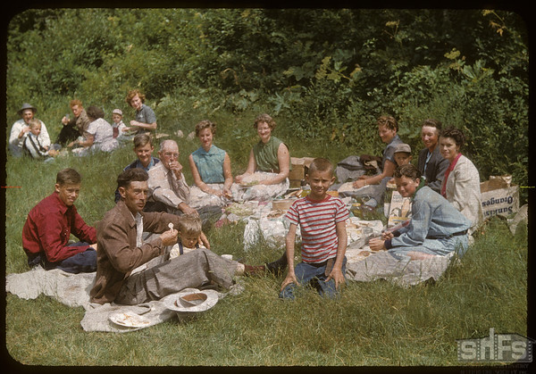 Wilbert Lewis & Chas Smith's Kempers. Test Plot Picnic.  South Fork.  07/27/1956