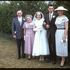 Hall - Jameison wedding; bride & groom and parents.  Shaunavon.  06/01/1957