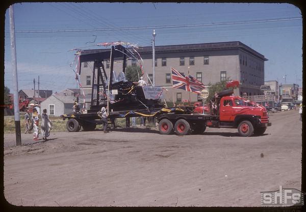 Oil Pump in the Fair Parade.  Shaunavon.  07/20/1954