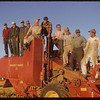 U.S. combine crew poses for picture at Roy Force's farm.  Shaunavon.  09/22/1952