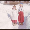 Skating carnival - Barrie & Diane Halderman dressed as Dutch Kids [picture donated to SHFS by Barrett Halderman].  Shaunavon.  03/21/1951