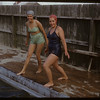 Shaunavon swimming pool - Mrs. Len Swailes and Mrs. George Smith.  Shaunavon.  07/13/1950