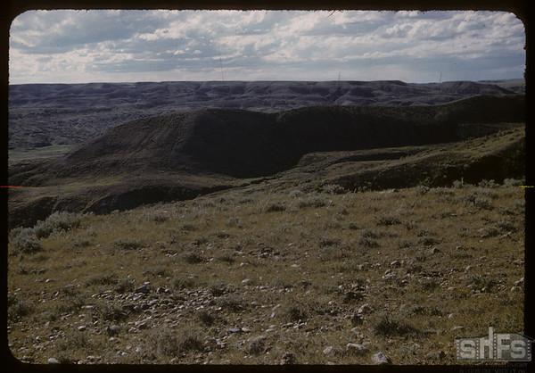 McNabb ranch bad lands.  Val Marie.  06/29/1957