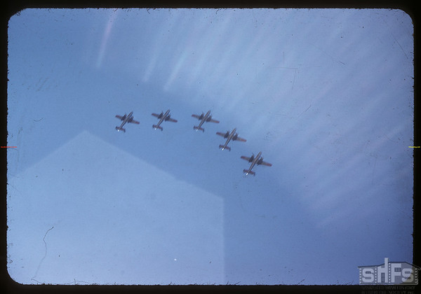 Pionera Jubilee Parade - Air Force Fly-by.  Saskatoon.  07/06/1955
