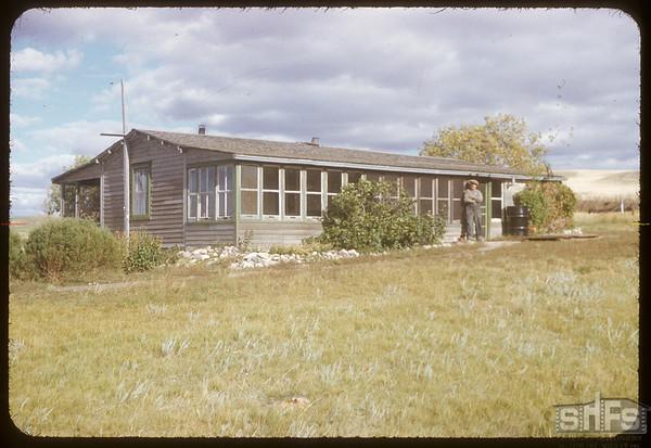 Frank Barr's home.  South Fork.  09/14/1952