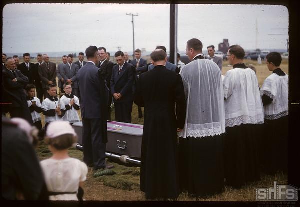 Father Bleau's funeral. Dollard. 07/29/1957