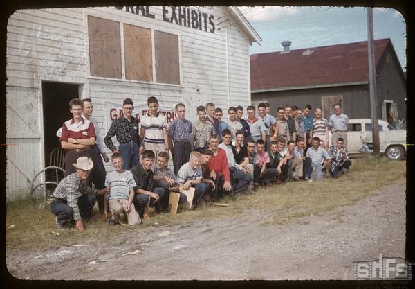 Boys attending co-op school.  Swift Current.  07/12/1956