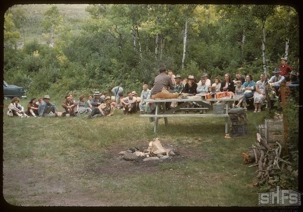 Test Plot Supervisors Picnic.  South Fork.  07/27/1956