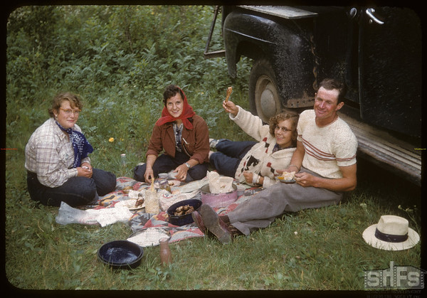 Bud Smith & Subd 4 Party. Test Plot Picnic.  South Fork.  07/27/1956