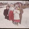 The Frank Halderman's Barrie & Dianne [wearing carnival costumes - looking toward 554 - 2nd Street E. - picture donated to SHFS by Barrett Halderman].  Shaunavon.  03/21/1951