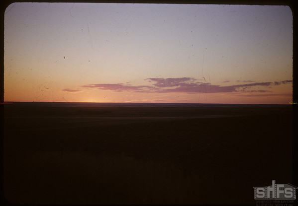 Prairie sunset.  Scotsguard.  08/22/1951