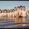 Boys swimming class - co-op school.  Swift Current.  07/09/1956