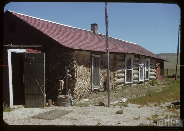 Doc Dixon's ranch house - part of Turkey Track ranch.  Val Marie.  07/05/1951
