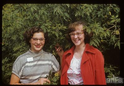 1953 co-op school girls - Elaine Linnen & Dorothy Diachyshyn, Admiral,  09/05/1953