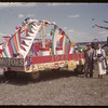 Jubilee parade - Cornet Motors float.  Val Marie.  06/06/1955
